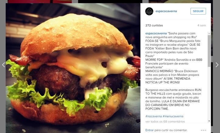 Sobre posts hilários! Se conseguir tirar o olho do burger se liga na legenda