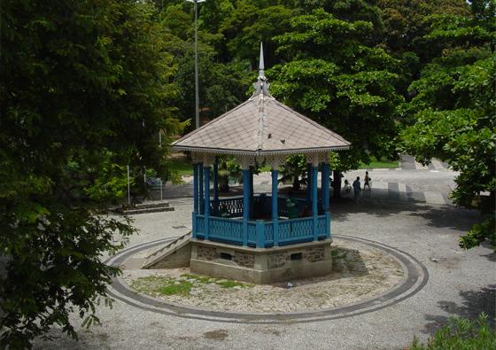 Coreto do Jardim do Méier (Foto: Acervo Inepac - Crédito: Pedro Oswaldo Cruz)