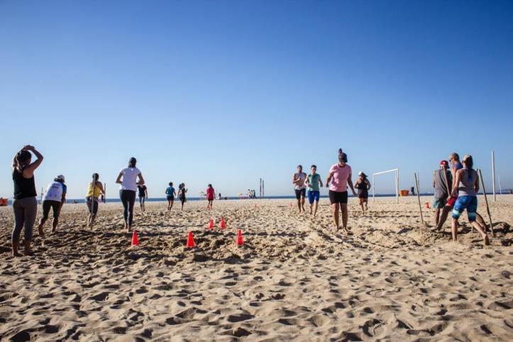 Treino na areia da Praia de Copa (Foto: Divulgação)