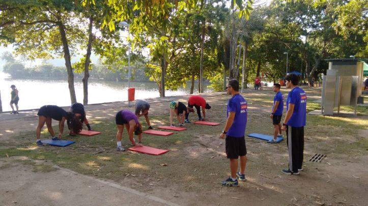 Todo sábado o treino é na Lagoa (Foto: Divulgação)