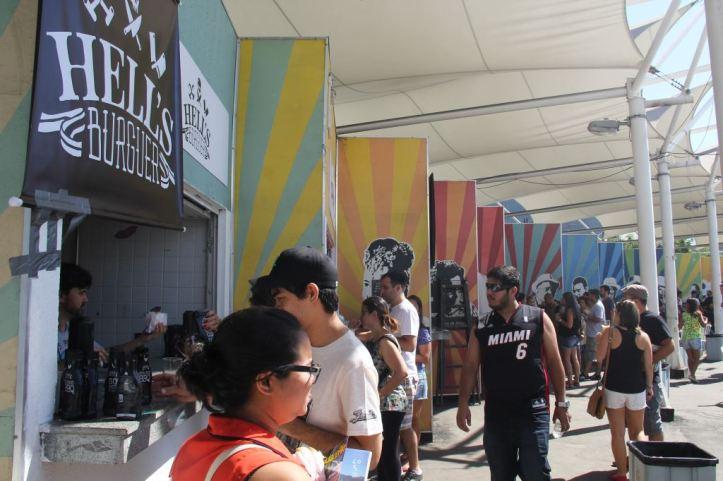 Área de alimentação na edição do Terreirão (Foto: Patrick Rocha)