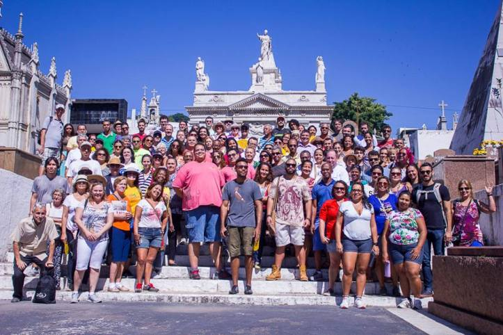Olha quanta gente aprendendo mais sobre a nossa cidade <3 (Foto: Thiago Diniz)
