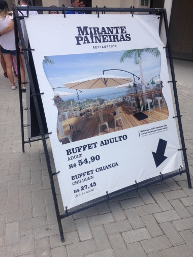 Cartaz do restaurante