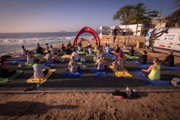 Yoga do Rio Praia Maravilhosa (Foto: Pedro Franco)