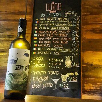 Tabela de vinhos do Winehouse (Foto: Reprodução do Face)