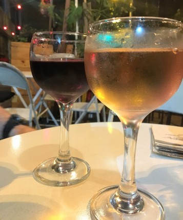 Vinhos em taça